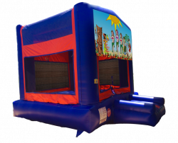 Luau Party Red/Blue/Yellow Bounce House