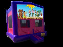 Luau Party Pink/Purple Bounce House