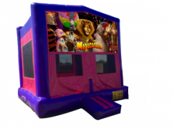 Madagascar Pink/Purple Bounce House