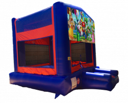 Super Mario Red/Blue/Yellow Bounce House