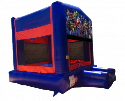 Marvel Lineup Red/Blue/Yellow Bounce House