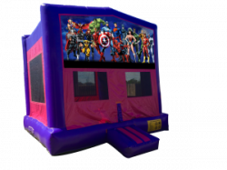 Marvel Lineup Pink/Purple Bounce House