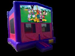 Mickey & Gang Pink/Purple Bounce House