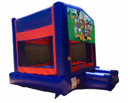 Mickey & Gang Red/Blue/Yellow Bounce House