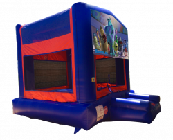 Monsters Inc. Red/Blue/Yellow Bounce House