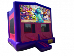Monsters University Pink/Purple Bounce House