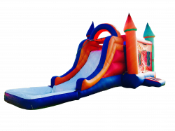 SINGLE LANE 16' WATERSLIDE 3 in 1 MULTICOLOR BOUNCE COMBO