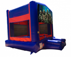 Ninja Turtles Red/Blue/Yellow Bounce House