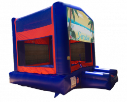 Paradise Red/Blue/Yellow Bounce House