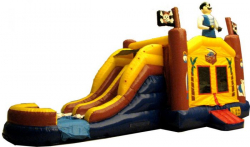 PIRATE DOUBLE LANE WATER SLIDE BOUNCE Wet & Dry COMBO