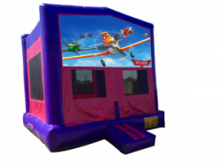 Planes Pink/Purple Bounce House