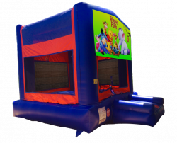 Winnie the Pooh Red/Blue/Yellow Bounce House