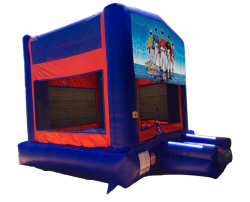 Power Rangers Red/Blue/Yellow Bounce House