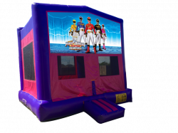 Power Ranger Pink/Purple Bounce House