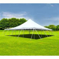 40' X 40' Frame Tent - No Poles Underneath