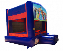 Disney Princesses Red/Blue/Yellow Bounce House