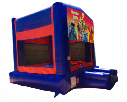 Sesame Party Red/Blue/Yellow Bounce House