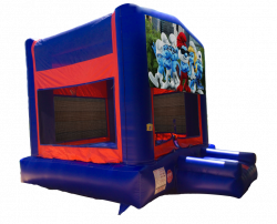 Smurfs Red/Blue/Yellow Bounce House