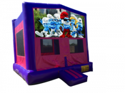 Smurfs Pink/Purple Bounce House