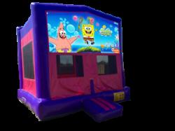 Spongebob Squarepants Pink/Purple Bounce House
