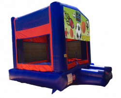Sports Red/Blue/Yellow Bounce House