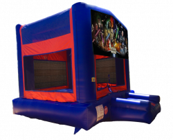Strawberry Shortcake Red/Blue/Yellow Bounce House