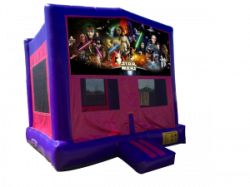 Star Wars Pink/Purple Bounce House