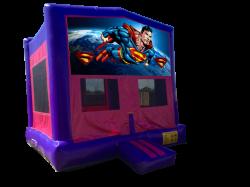 Superman Pink/Purple Bounce House