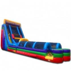 24' Vertical Rush Double Lane Slide & Double Slip Slides w/