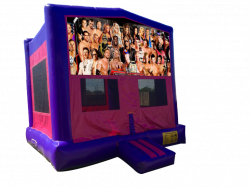 WWE Pink/Purple Bounce House