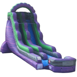 18ft Purple Marble Dry Slide - $275