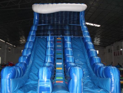 20ft Marble Wave 2-Lane Water Slide - $400