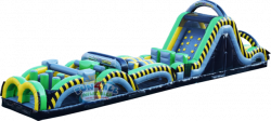 70 foot Obstacle Course and Slide 2 Piece set