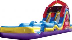 Monster 2 lane Slide Splash with Pool