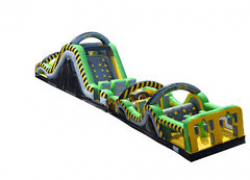 65' Radical Run Obstacle Course and Slide