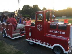 Trackless Train Fire Truck
