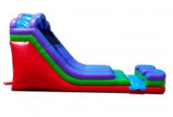 18' Retro Double Lane Wet/Dry Slide