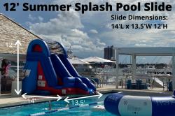 13 95451787 big 1618598560 12' Summer Splash Pool Slide (14L 13.5W 12H)