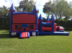 3 IN 1 OBSTACLE RED with 18FT Obstacle Course *(32L 17W 16H)