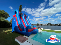 4 1621005217 17' Palm Beach Pool Slide *(18L 11W 17H)