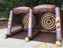 "Lumberjack (axe throwing) *(16'L x 10'W x 8'7""H)"