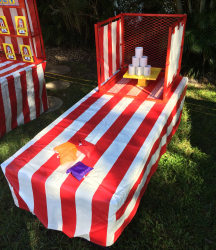Red and White Carnival Table cloth