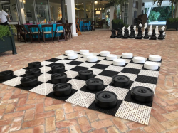 Giant Checkers *(9'L 9'W 0.5'H)