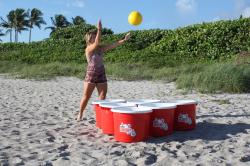 Giant Yard Pong *(12 BUCKETS & 3 YELLOW BALLS)