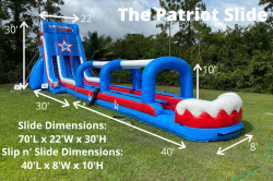 Patriot 955551968 **30' Patriot Double Lane Slide (70L 21W 30H)
