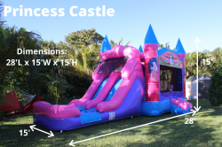 Princess 332297219 Princess Castle (double lane) *(28L 15W 15H)