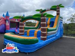 adventureisland slide watersliderental partyplanning 1622057991 NEW 15' Adventure Island Double Lane (26L 13W 15H)