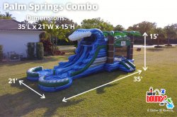 palmspringscombo jupiterbounce waterslide palmbeachpartyrental 1612881295 NEW Palm Springs Combo (35L 21W 15H)