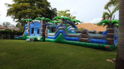 63ft Blue Tropical Combo With Obstacle Course