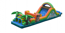 48ft Tiki Island Obstacle Course (Dry)